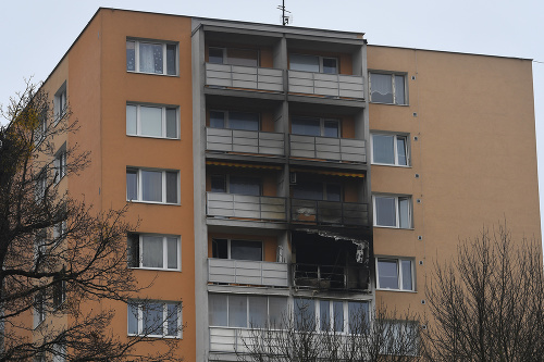 Bytovka po požiari na