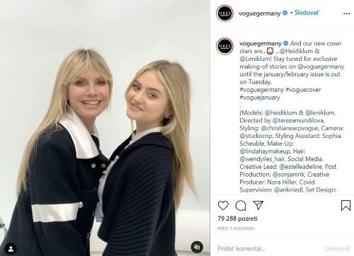 Heidi Klum s dcérou