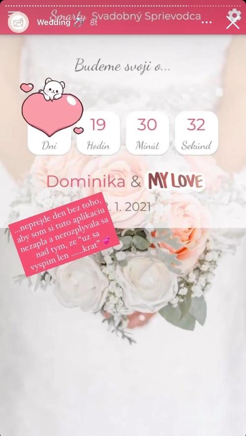 Ani dátum svadby Dominika