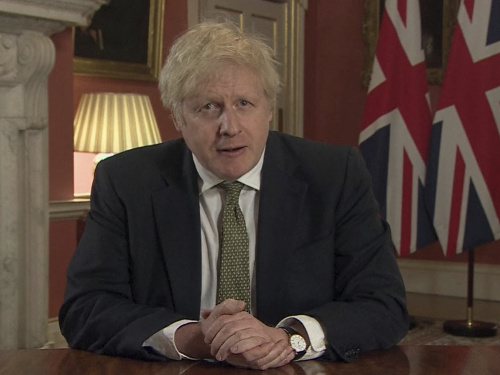 Premiér Boris Johnson sa