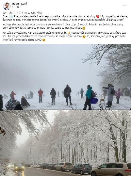 Sneh vylákal ľudí na