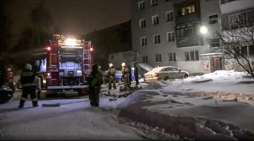 Požiar bytového domu v
