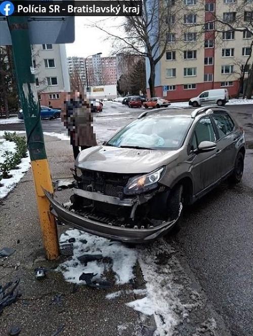 Dopravná nehoda na Švabinského