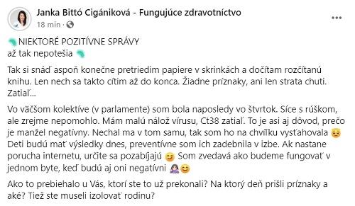 KORONAVÍRUS Infikovanie Cigánikovej (37)