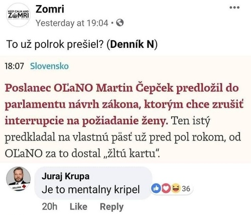 Martin Čepček (OĽaNO): Antikoncepcia