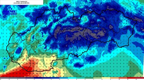 Teploty na Slovensku šli