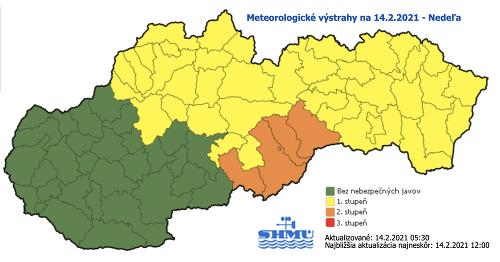 Meteorológovia varujú pred nízkymi