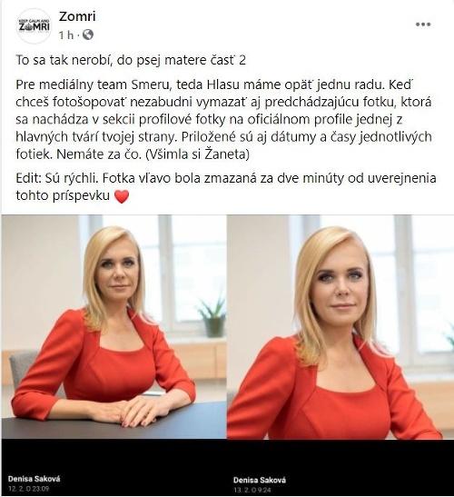 Saková čelí trapasu: Jej
