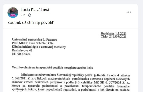 KORONAVÍRUS Povoľovací dokument o