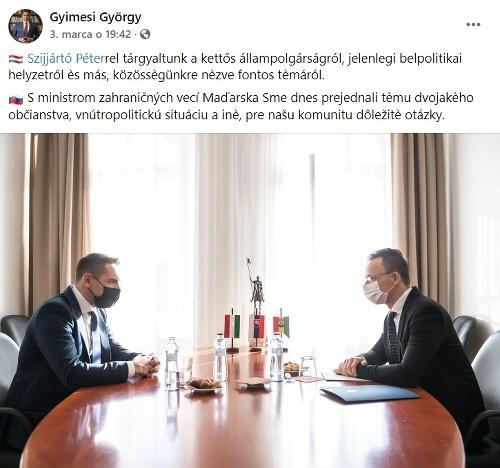 Gyimesiho stretnutie s maďarským