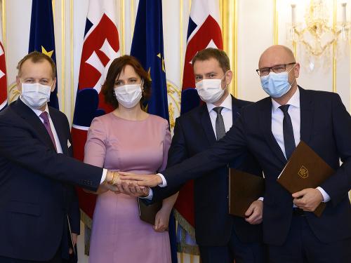 Podpis koaličnej zmluvy