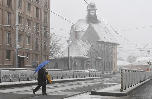 Sneženie v Košiciach 6.