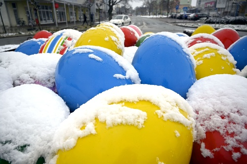 Aprílové sneženie v Trebišove