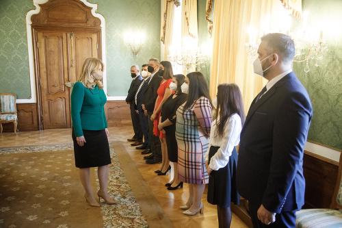 Prezidentka víta podporu Rómov