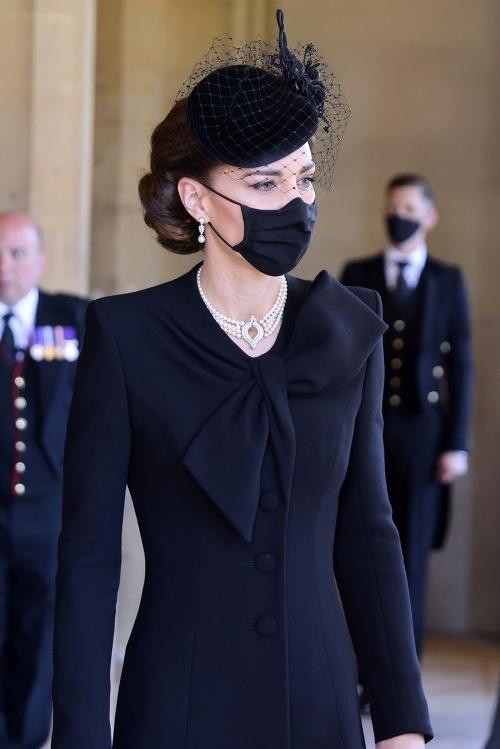 Kate Middleton na pohrebe