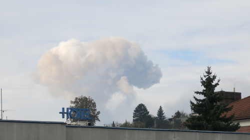 Požiar muničného areálu v