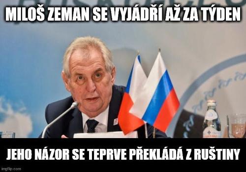 Ostrá reakcia na Zemanovo