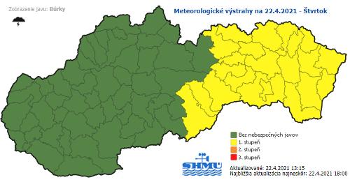 Východné Slovensko bičujú extrémne