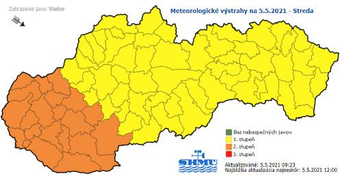 Slovensko o pár hodín