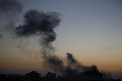 Výbuchy v pásme Gazy