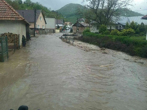 Povodeň v obci Rudno