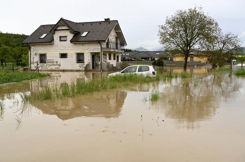 Povodeň v obci Horné