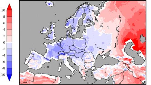 Predpokladané teplotné odchýlky do