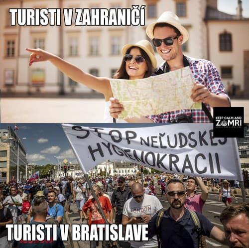 KORONAVÍRUS Protestujúci v Bratislave