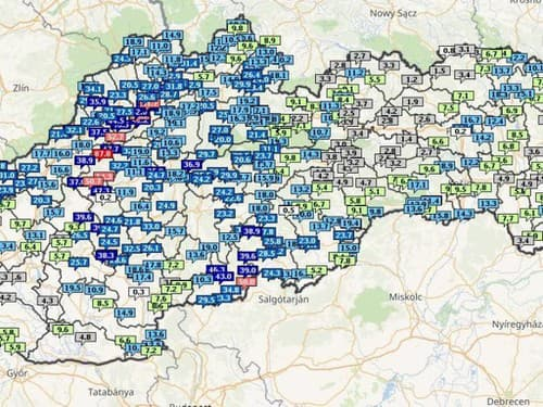 Slovensko zasiahli mimoriadne silné