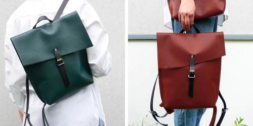 Minimalistické kožené batohy