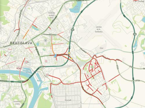 Katastrofálne piatkové ráno: VBratislave