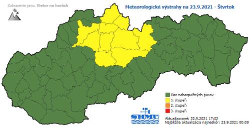 Výstrahy na Slovensku