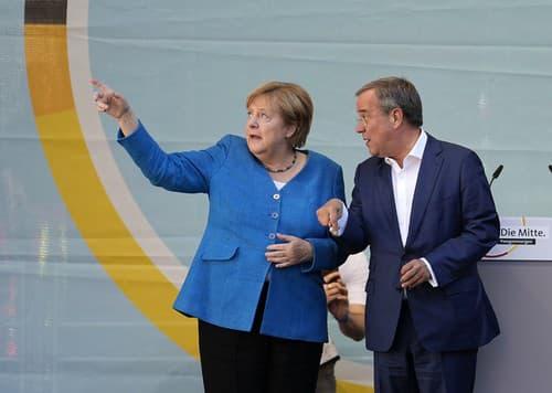Angela Merkelová a top