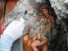 Na snímke freska zobrazujúca