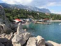 pobrežie Simeiz, Krym, Ukrajina