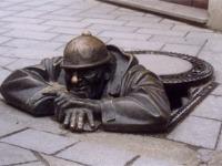 Bratislavská socha Čumila