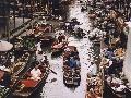 Plávajúci trh v Bangkoku
