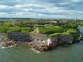 Suomenlinna pevnosť blízko Helsiniek,