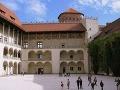 Nádvorie hradu Wawel, Krakov,