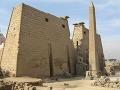 Chrám v Luxore, Egypt