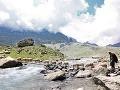 Pri jazere Gangabal, Kašmír,