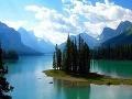 Jazero Maligne v Národnom