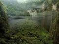 Oblačnosť a vegetácia - jaskyňa Er Wang Dong žije vlastným životom, Čína