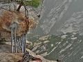 Provizórne rebríky, Mount Huashan,