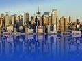 Manhattan - modré more