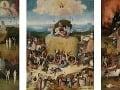 Triptych s vozom sena