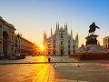 Miláno, námestie s katedrálou