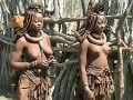 Príslušníčka domorodého obyvateľstva Namíbie.