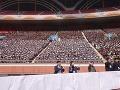 Diváci na výročnom pchjongjang