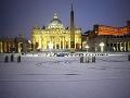 Zasnežený Rím, Taliansko